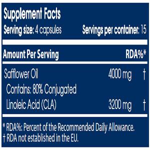 جدول ارزش غذایی CLA سایتک نوتریشن
