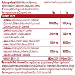 جدول ارزش غذایی گلوتامین بلتور گلوتابلد ترک نوتریشن