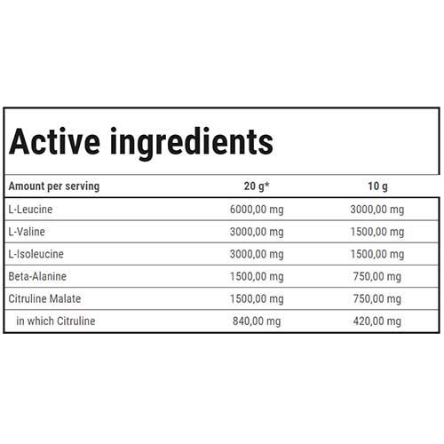 جدول ارزش غذایی بی سی ای ای های اسپید گلد کور لاین ترک نوتریشن
