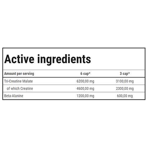 جدول ارزش غذایی کراتین CM3 1300 گلد کور لاین ترک نوتریشن