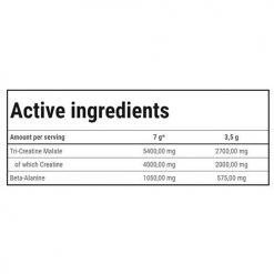 جدول ارزش غذایی کراتین CM3 گلد کور لاین ترک نوتریشن