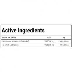 جدول ارزش غذایی گلوتامین اکستریم ترک نوتریشن
