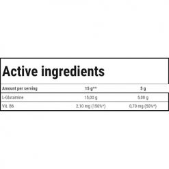 جدول ارزش غذایی گلوتامین پودر ترک نوتریشن