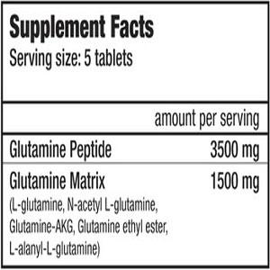 جدول ارزش غذایی گلوتامین گلوتاناتور تبلتز بایوتک