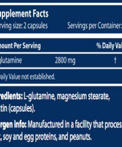 جدول ارزش غذایی گلوتامین مگا سایتک نوتریشن