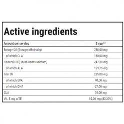 جدول ارزش غذایی امگا 3-6-9 ترک نوتریشن