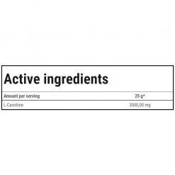 جدول ارزش غذایی ال-کارنیتین 3000 ژل ترک نوتریشن