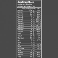 جدول ارزش غذایی مولتی ویتامین فور وومن بایوتک (01)