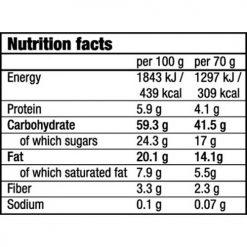 جدول ارزش غذایی اوت & فروتز بار بایوتک