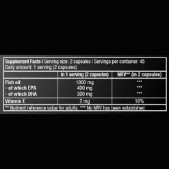 جدول ارزش غذایی امگا 3 بایوتک