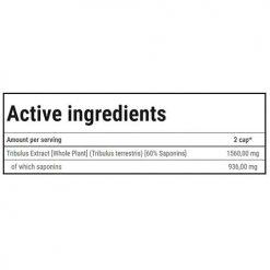 جدول ارزش غذایی تستسترون بوستر تریبولون ترک نوتریشن ( 120 عددی )