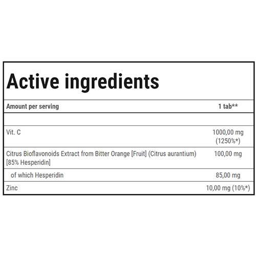 جدول ارزش غذایی ویتامین سی استرانگ 1000 ترک نوتریشن