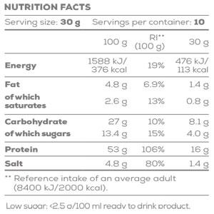 جدول ارزش غذایی تومیتو سوپ پروتئین گوستو لاین بایوتک