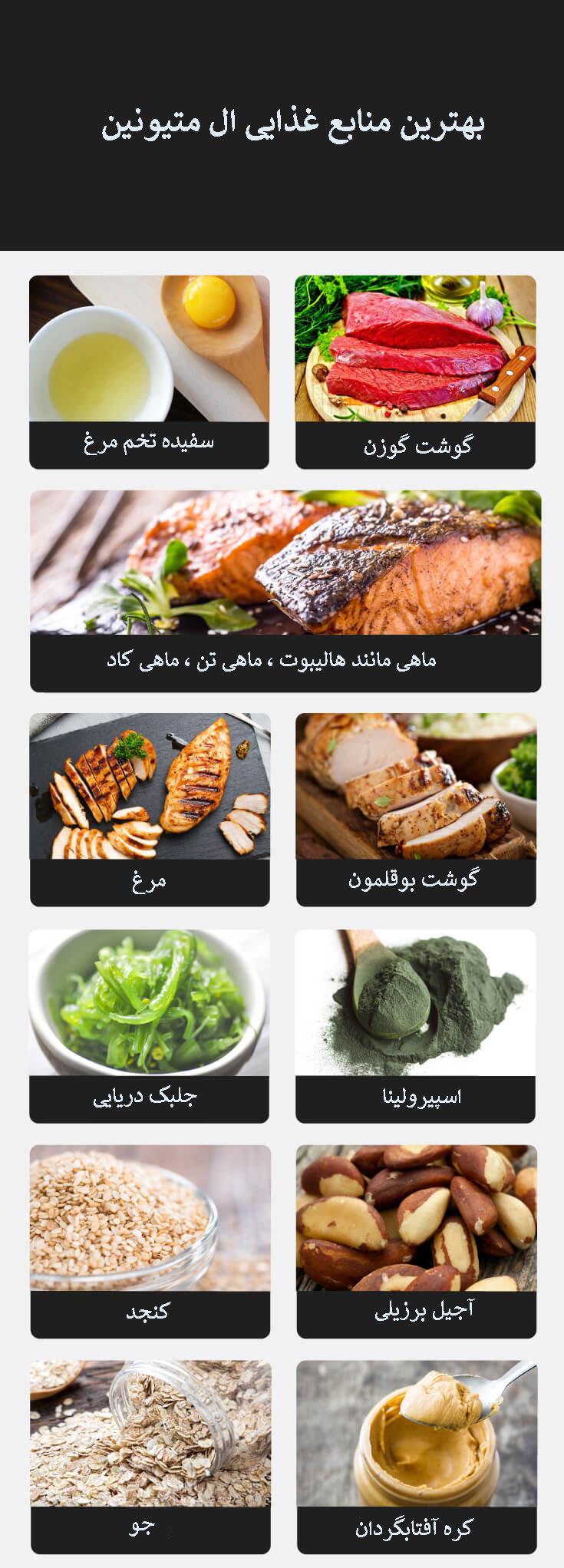 منابع غذایی ال متیونین