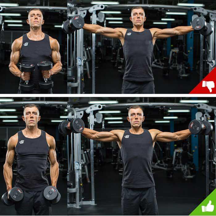 تغییر زاویه خمیدگی آرنج در وسط حرکت