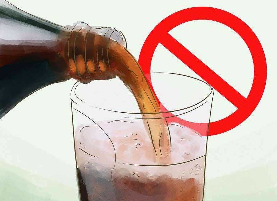 عدم مصرف نوشیدنی های گازدار