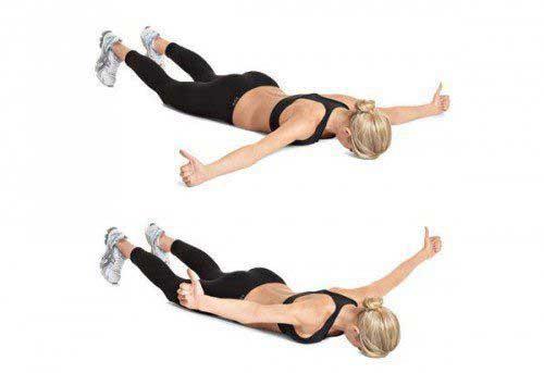 تقویت عضلات مرکزی : حرکت بلند کردن دست ، پا و سینه