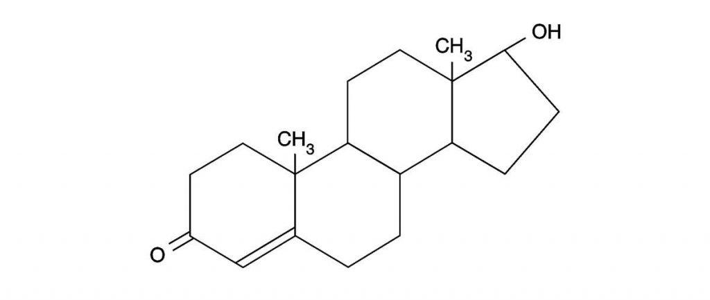 ساختار شیمیایی تستسترون