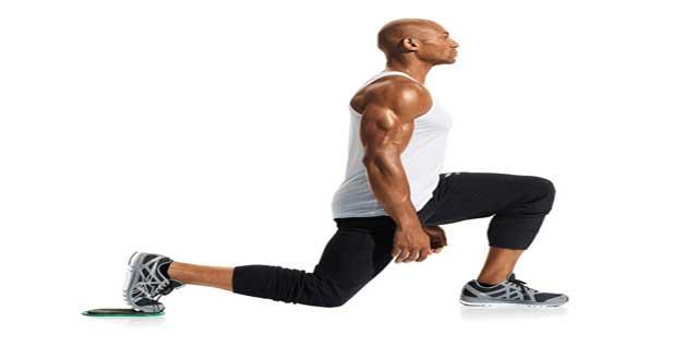 حرکت لانچ برای تقویت عضلات کمر