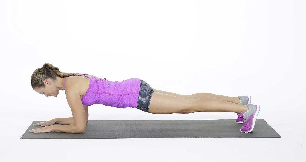 تقویت عضلات مرکزی بدن : حرکت پلانک