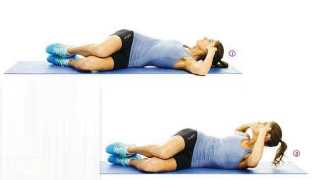 تقویت عضلات مرکزی : کرانچ از پهلو