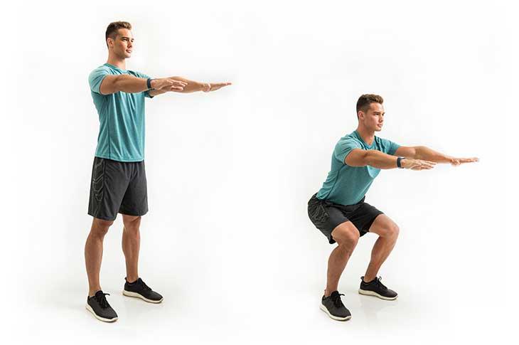 تقویت عضلات مرکزی بدن : اسکات