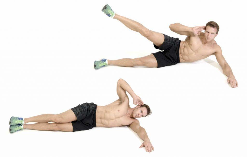 تقویت عضلات مرکزی بدن : جک نایف از پهلو