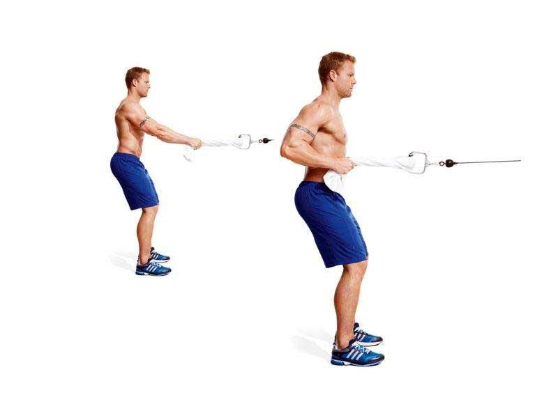 حرکت سیم کش با حوله برای تقویت عضلات ساعد