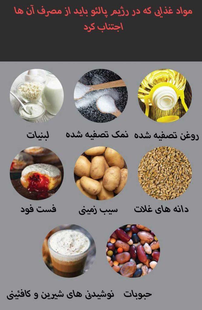 مواد غذایی منع شده در رژیم پالئو