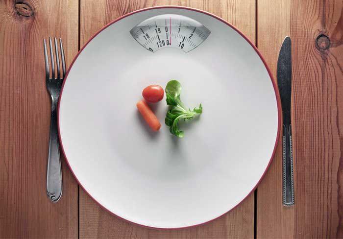 کاهش کالری دریافتی برای کاهش وزن