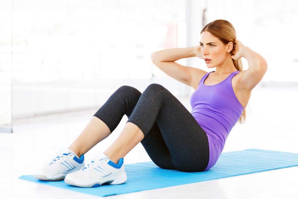 تمرین دراز-نشست از برنامه سیکس پک 30 روزه