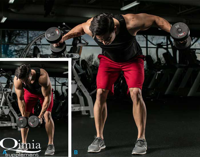 تمرین تقویت عضلات شانه : نشر خم دمبل