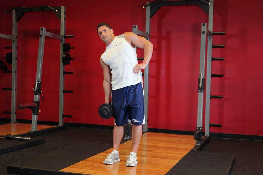 ورزش پهلو ایستاده با دمبل تک دست - 02