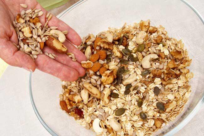 مصرف انواع آجیل و دانه ها در رژیم نوردیک