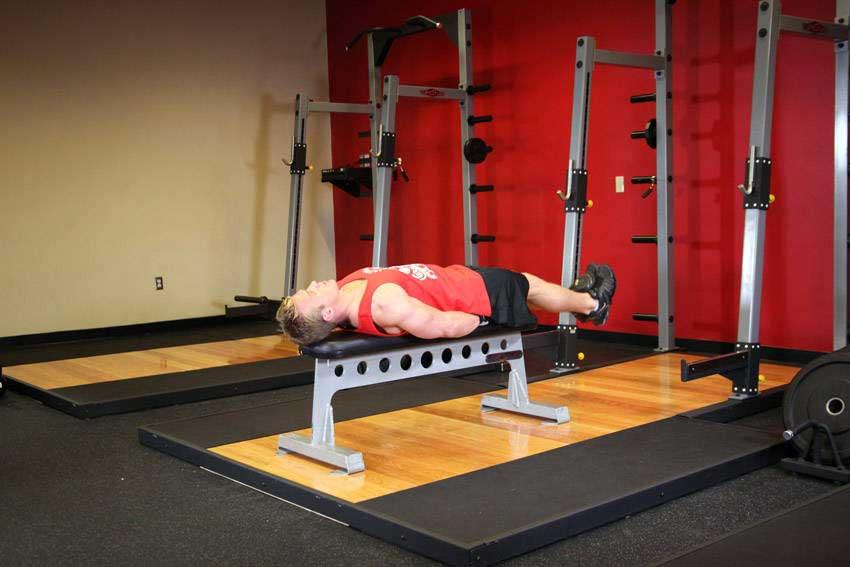 تمرین شکم پرتابی خوابیده