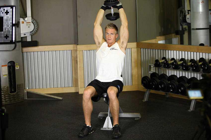 حرکت پرس پشت بازو دمبل نشسته (01)