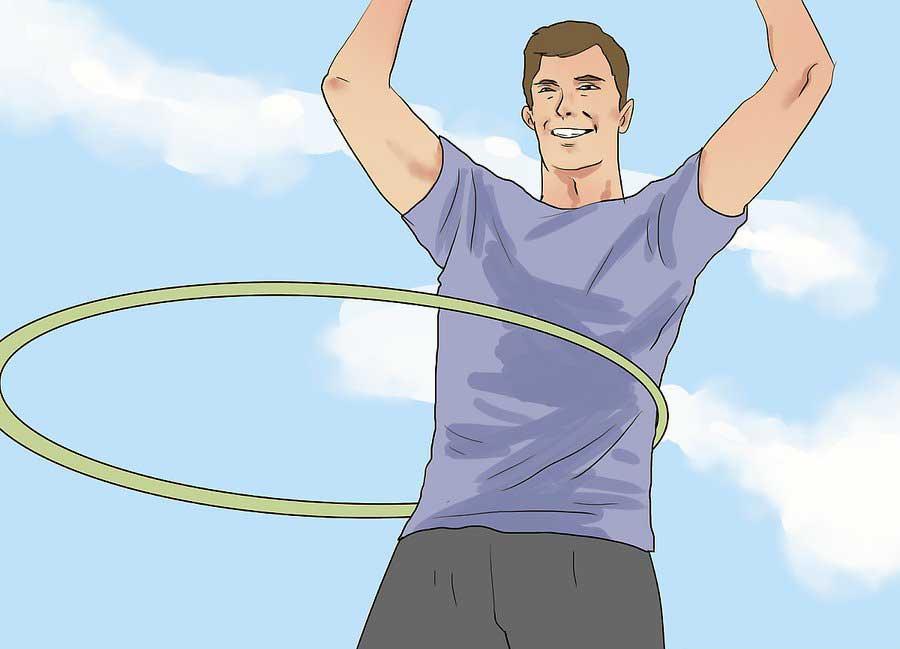 حلقه بزنید تا کمر باریک تری داشته باشید