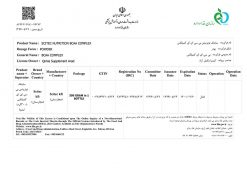 گواهی ثبت بی سی ای ای کامپلکس سایتک نوتریشن