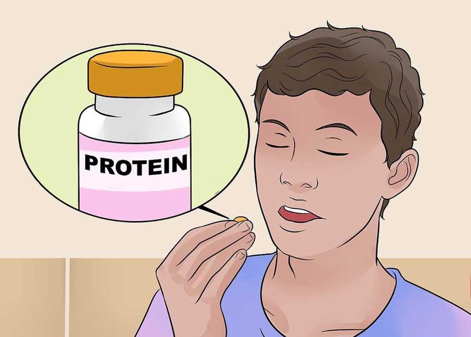 مصرف مکمل های پروتئين برای حفظ حجم عضلات