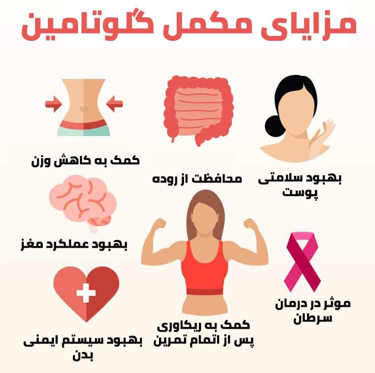 خواص مکمل گلوتامین