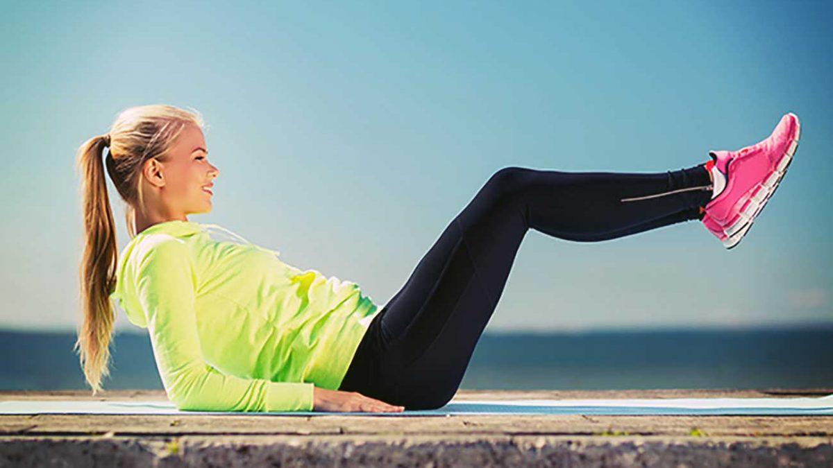تمرینات جذاب برای عضلات شکم بانوان (01)