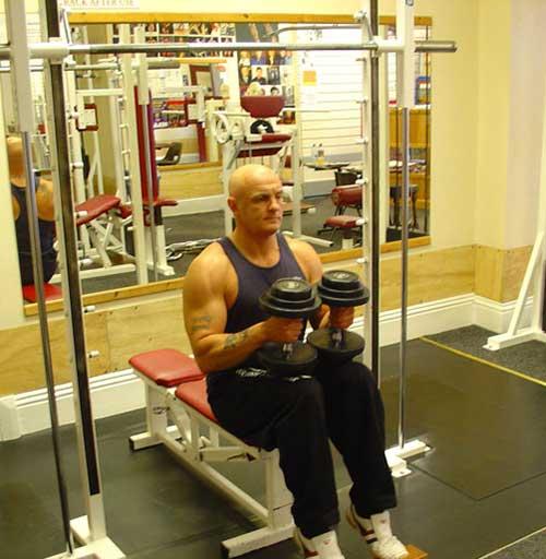 تمرین ساق پا نشسته دمبل (01)