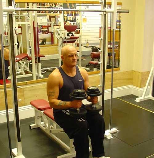تمرین ساق پا نشسته دمبل (02)