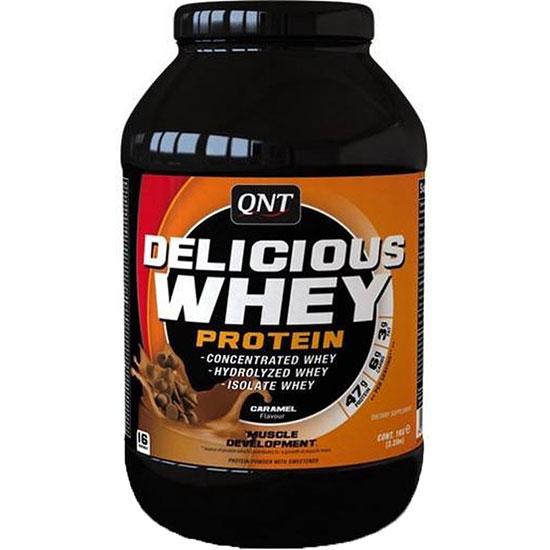 دلیشس وی پروتئین کیو ان تی کارامل